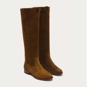 Cara Tall Frye Boots Sz 6.5 - Brown Suede NEW
